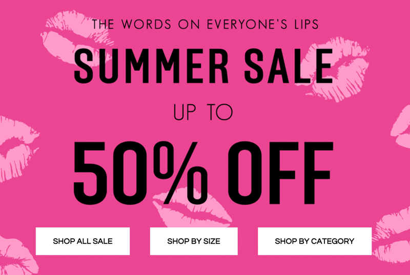 Pink Boutique: Sale up to 50% off womens clothing