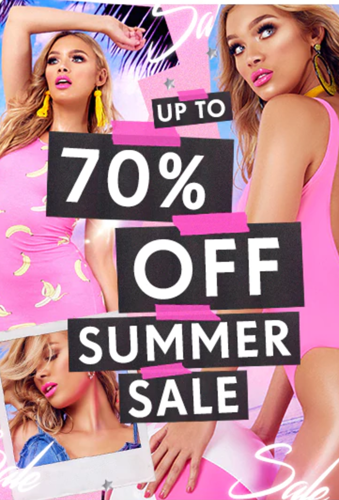PrettyLittleThing: Summer Sale up to 70% off women's fashion clothing