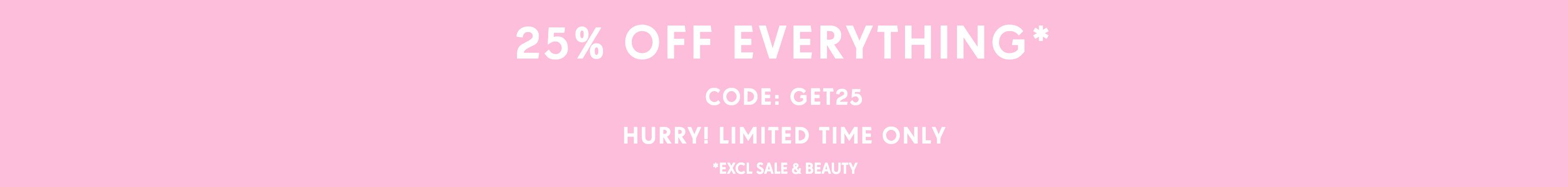 PrettyLittleThing: 25% off women's fashion