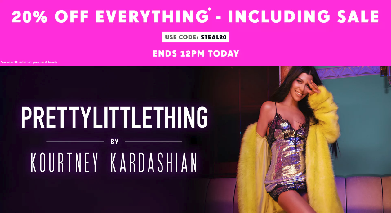 PrettyLittleThing: 20% off everything