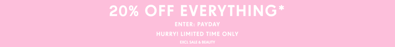 PrettyLittleThing: 20% off women's fashion