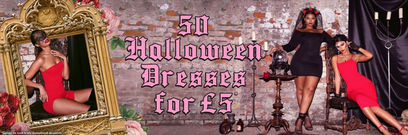 PrettyLittleThing: 50 Halloween dresses for 5£