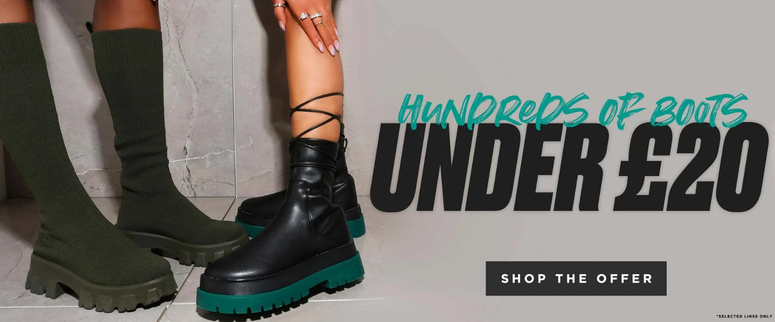 Public Desire: hundred of boots under £20