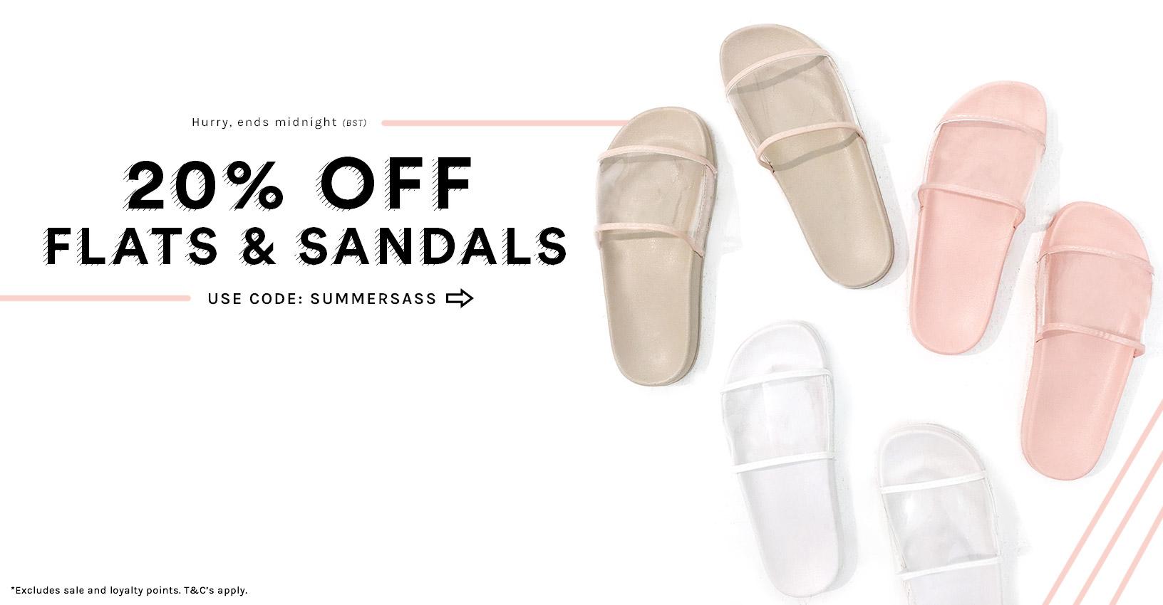 Public Desire Public Desire: 20% off flats and sandals