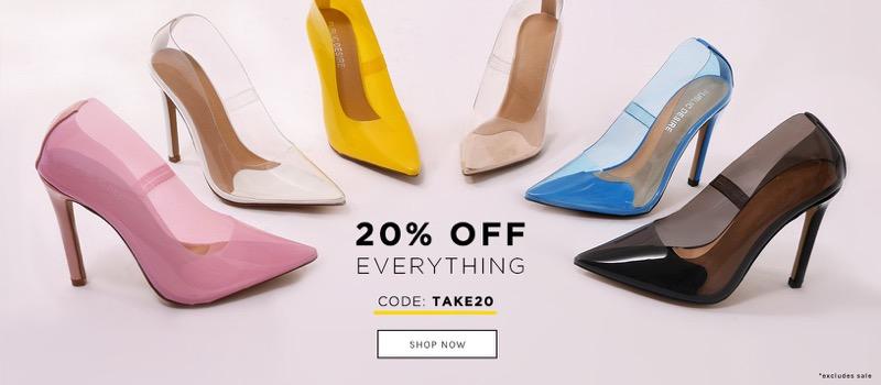Public Desire: 20% off shoes