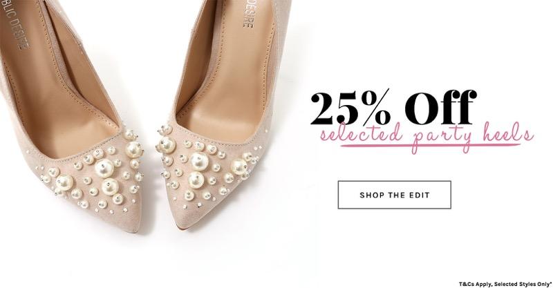 Public Desire: 25% off selected party heels