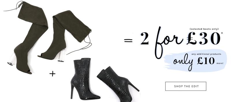 Public Desire Public Desire: 2 selected boots for £30