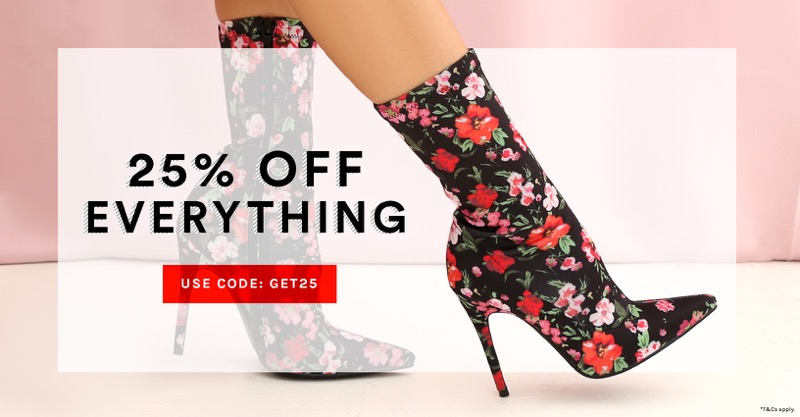 Public Desire Public Desire: 25% off women's shoes, boots & footwear