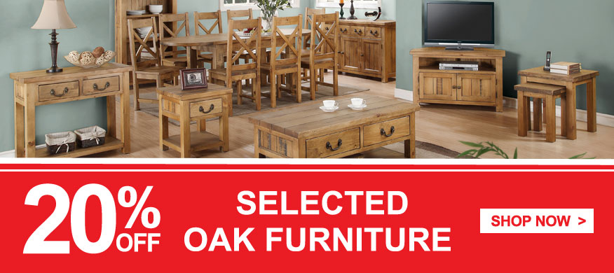 QD stores: 20% off selected OAK furniture
