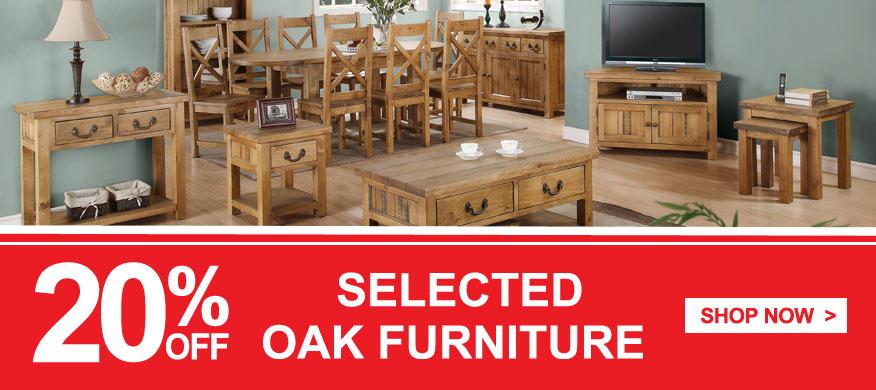 QD stores: 20% off selected OAK furniture