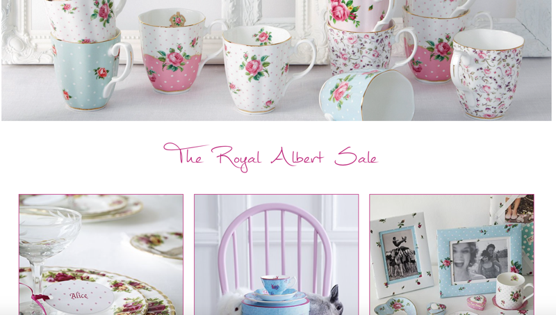 Royal Albert: Sale up to 50% off tableware and giftware collections