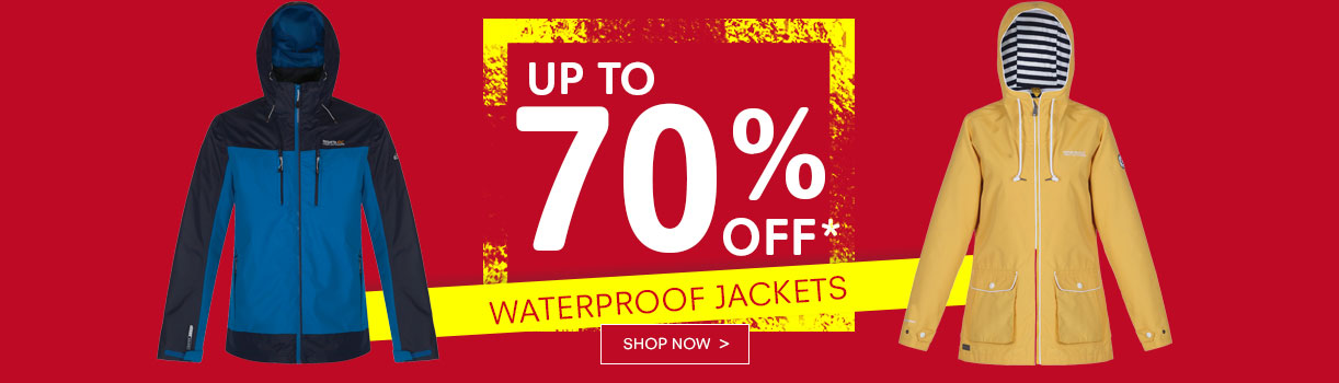 Regatta Outlet Regatta Outlet: Sale up to 70% off waterproof jackets