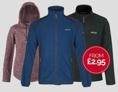 Regatta Outlet: fleeces from £2,95
