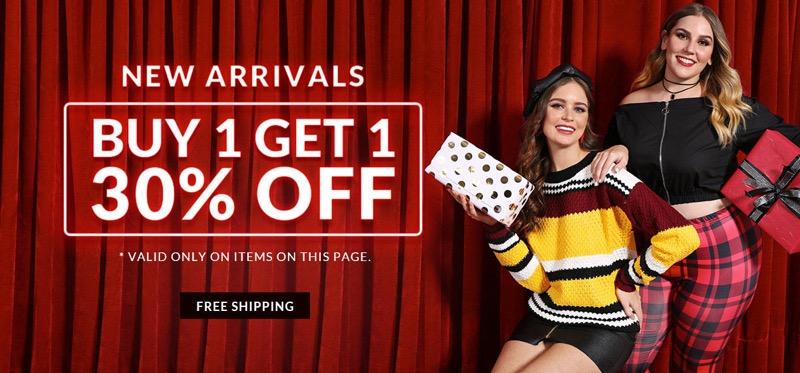 RoseGal: buy 1 get 1 30% off