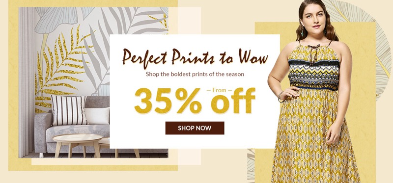 RoseGal RoseGal: Sale from 35% off printed clothing and home accessories