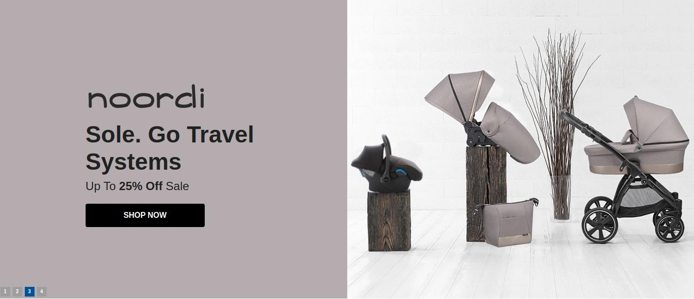 Samuel Johnston: Sale up to 25% off noordi go travel systems