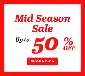 Sarenza: Mid Season Sale up to 50% off
