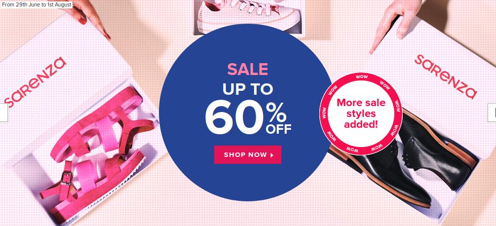 Sarenza: Sale up to 60% off