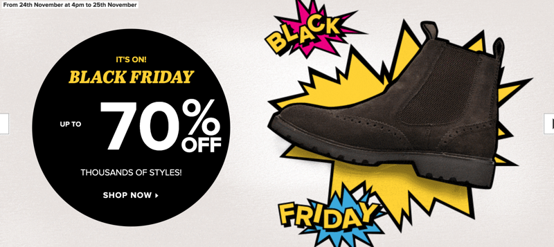 Black Friday Sarenza: up to 70% off thousands of styles