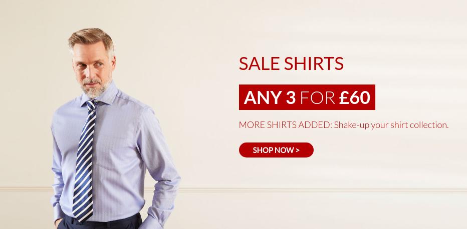 Savile Row: 3 shirts for £60