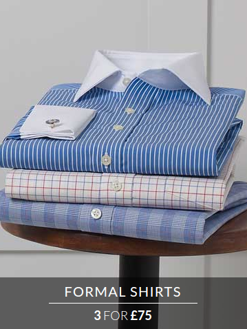 Savile Row: three formal shirts for £75