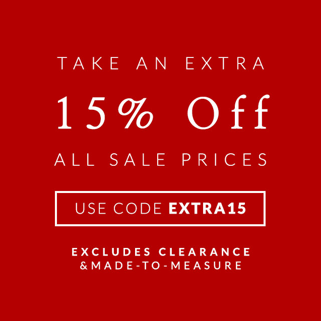 Savile Row: extra 15% off sale products