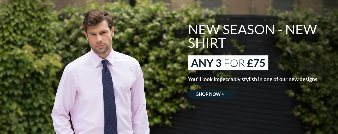 Savile Row Savile Row: any three new shirts for £75