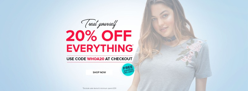 Select Fashion: 20% off everything