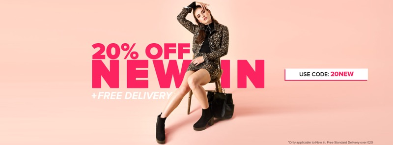 Select Fashion: 20% off new in women's clothing
