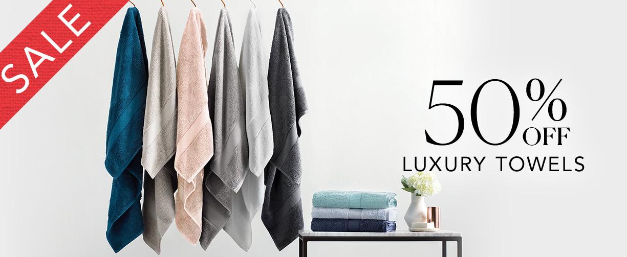 Sheridan: Sale 50% off luxury towels