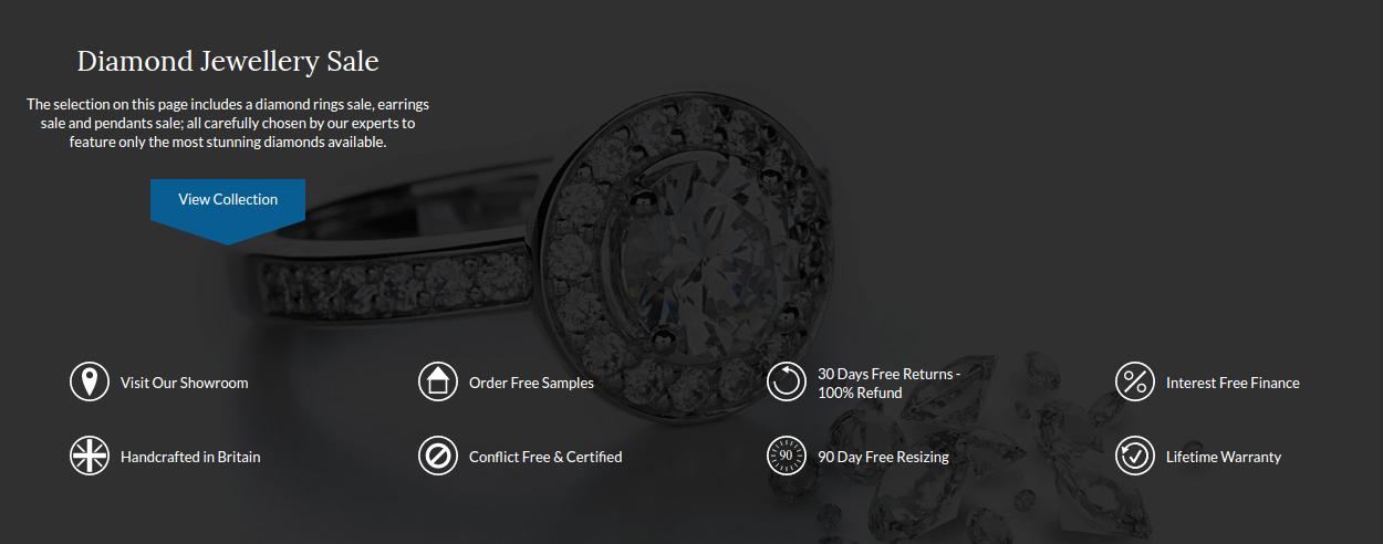 Shining Diamonds: Sale up to 30% off jewellery