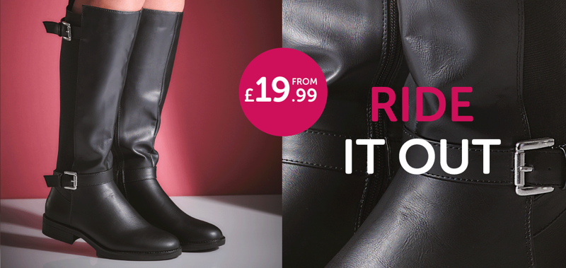 Shoe Zone Shoe Zone: knee-high boots from £19.99