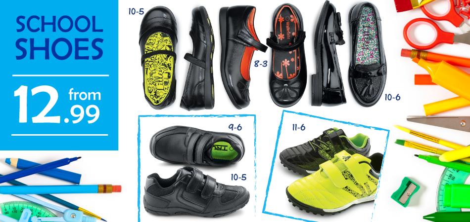 Shoe Zone Shoe Zone: school shoes from £12,99