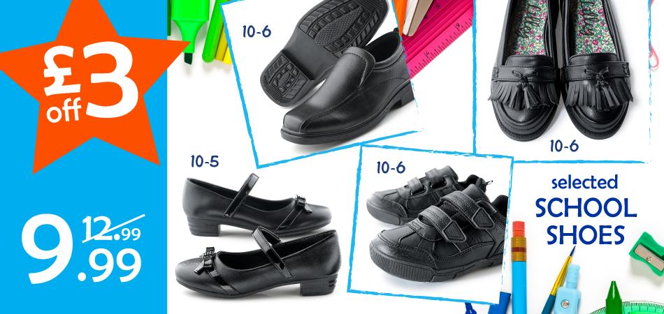Shoe Zone Shoe Zone: £3 off selected school shoes