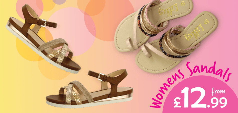 Shoe Zone Shoe Zone: womens sandals from £12.99