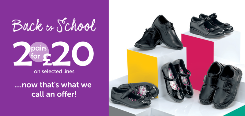 Shoe Zone Shoe Zone: 2 pairs of shoes for £20