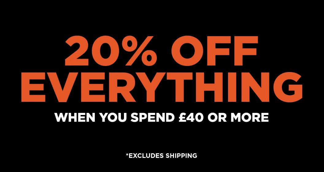 Shot Dead In The Head: 20% off everything when you spend £40 or more - funny t-shirts