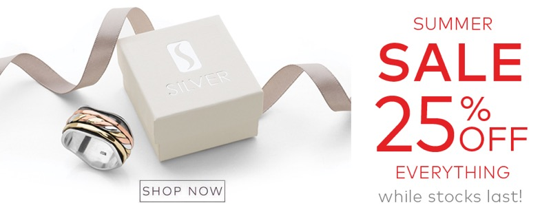 Silver By Mail: Summer Sale 25% off jewellery