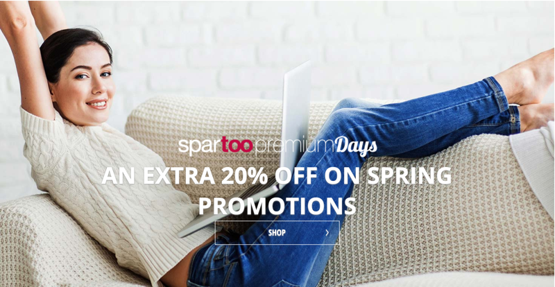 Spartoo: an extra 20% off on shoes, bags & clothes
