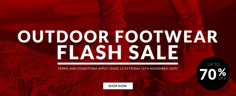 SportsDirect: Sale up to 70% off outdoor footwear