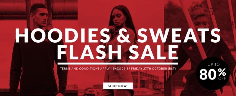 SportsDirect: Flash Sale up to 80% off hoodies & sweats