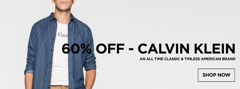 Stuarts London: Sale up to 60% off Calvin Klein collection