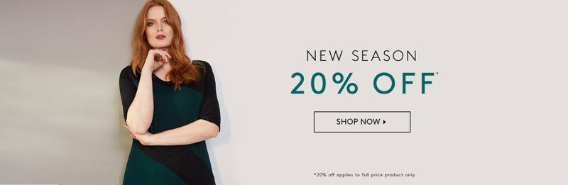 Studio 8: 20% off new season women's clothing