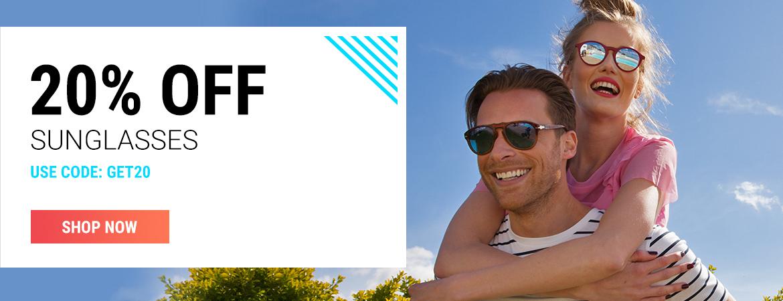 Sunglasses Shop: 20% off sunglasses