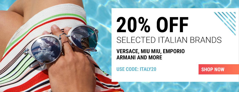Sunglasses Shop Sunglasses Shop: 20% off selected italian sunglasses brands