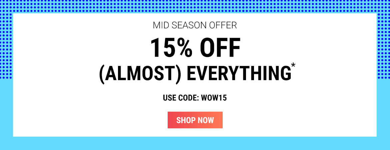 Sunglasses Shop: Mid Season Sale 15% off designer sunglasses