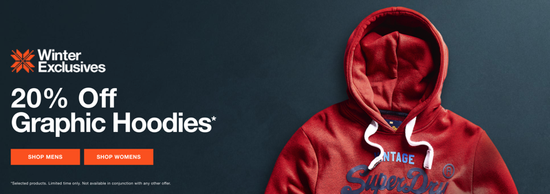Superdry: 20% off graphic hoodies