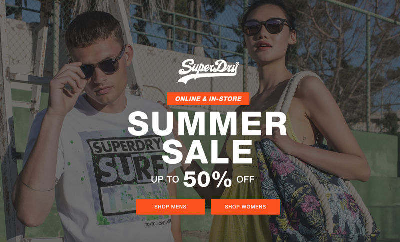 Superdry: Summer Sale up to 50% off womens and mens clothing
