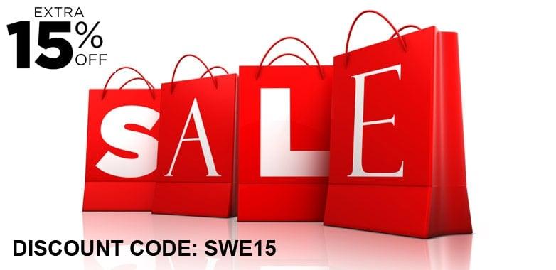 Swerve: Sale 15% off designer clothing