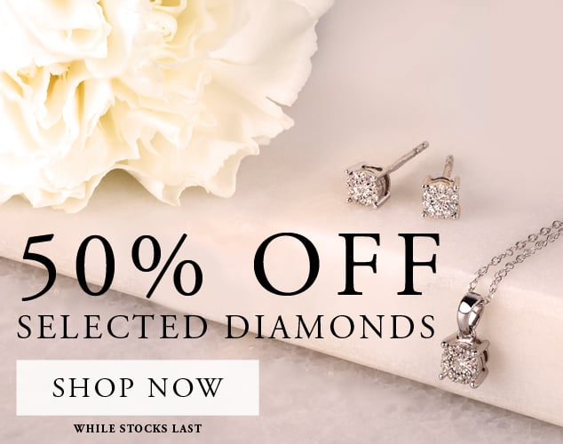 T. H. Baker: 50% off selected diamonds